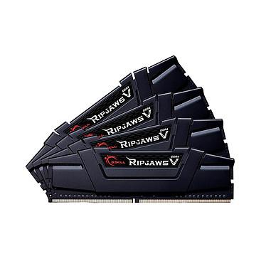 G.Skill RipJaws 5 Series Noir 128 Go (4 x 32 Go) DDR4 2666 MHz CL18 Kit Quad Channel 4 barrettes de RAM DDR4 PC4-21300 - F4-2666C18Q-128GVK