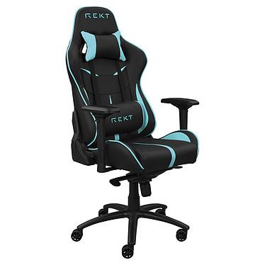 REKT TEAM8 (Bleu) Siège en similicuir avec dossier inclinable à 180° et accoudoirs 4D pour gamer (jusqu'à 150 kg)