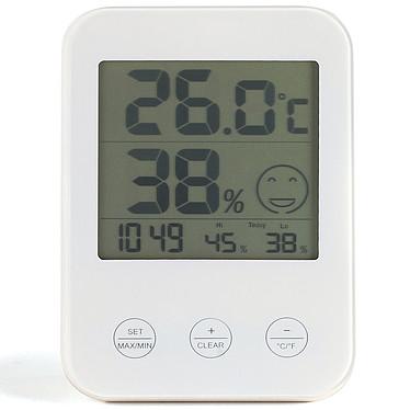 Livoo SL257 Thermomètre / hygromètre avec horloge et pictos niveau de confort
