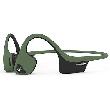 AfterShokz Trekz Air Vert Casque tour de cou sans fil à conduction osseuse - Conception ouverte - Bluetooth - Microphone - Certification IP55