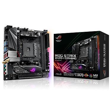ASUS ROG STRIX X470-I GAMING Carte mère Mini-ITX Socket AM4 AMD X470 - 2x DDR4 - SATA 6Gb/s + M.2 - USB 3.1 - 1x PCI-Express 3.0 16x - Wi-FI