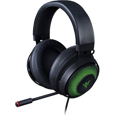 Razer Kraken Ultimate Casque gaming - filaire - circum-aural fermé - son surround 7.1 - microphone flexible - coussinets à gel refroidissant avec mousse à mémoire de forme - rétroéclairage RGB Chroma