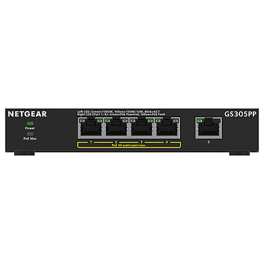 Netgear GS305PP Switch PoE+ 5 ports gigabit 10/100/1000 Mbps