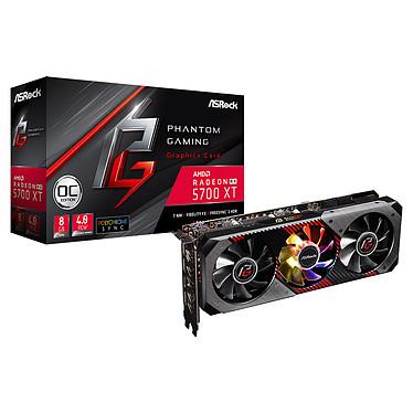 ASRock Radeon RX 5700 XT Phantom Gaming D 8G OC 8 Go GDDR6 - HDMI/Tri DisplayPort - PCI Express (AMD Radeon RX 5700 XT)
