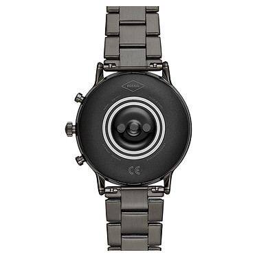 Fossil The Carlyle HR (44 mm / Acier inoxydable / Gris) pas cher