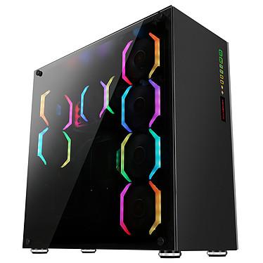 Abkoncore Ramesses 760 Sync Boîtier Grand Tour avec panneaux en verre trempé, rétroéclairage RGB adressable et télécommande