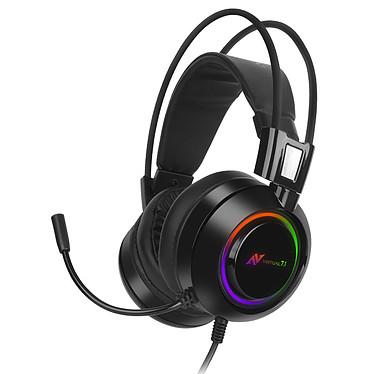 Abkoncore B780 Casque-micro pour gamer - circum-aural fermé - son surround 7.1 - microphone multidirectionnel - générateur de vibrations -  USB - rétroéclairage RGB - compatible PC