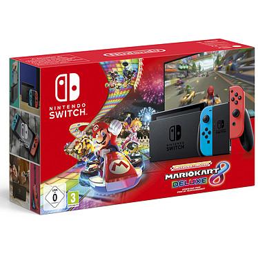 Nintendo Switch v2 + Joy-Con droit et gauche (gris) + Mario Kart 8 Deluxe Console hybride salon / portable + jeu Mario Kart 8 Deluxe