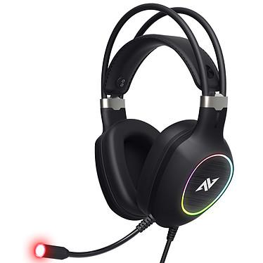 Abkoncore CH55 Casque-micro pour gamer - circum-aural fermé - son surround 7.1- microphone multidirectionnel - générateur de vibrations -  USB - rétroéclairage RGB - compatible PC