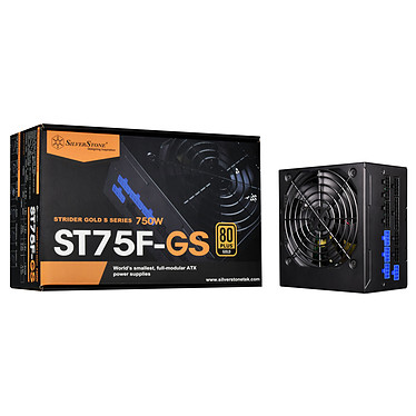 SilverStone Strider ST75F-GS V3.0 80PLUS Gold Alimentation 100% modulaire 750W ATX12V v2.4 - 80PLUS Gold