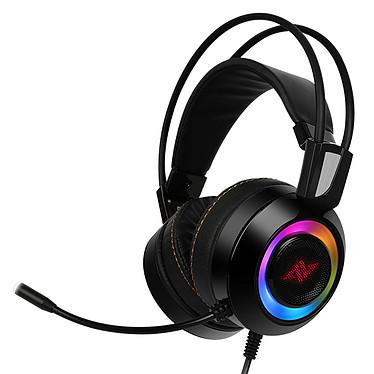 Abkoncore CH60 (noir) Casque-micro pour gamer - circum-aural fermé - son surround 7.1 véritable - microphone multidirectionnel - générateur de vibrations -  USB - rétroéclairage RGB - compatible PC