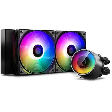 Deepcool Gamer Storm Castle 240 RGB V2 Kit de Watercooling 240 mm tout-en-un pour processeur avec éclairage RGB adressable et contrôleur intégré pour socket Intel et AMD
