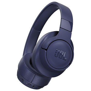 JBL TUNE 750BTNC Bleu Casque supra-auriculaire sans fil - Bluetooth 4.2 - Réduction de bruit active - Commandes/Micro - Autonomie 15h - Conception pliable