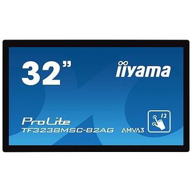 "iiyama 32"" LED - ProLite TF3238MSC-B2AG Écran tactile interactif 1920 x 1080 pixels 16:9 - AMVA3-AG - 3000:1 - 8 ms - 24/7 - Portrait/Paysage - HDMI/DisplayPort/RJ45 - Haut-parleurs intégrés"