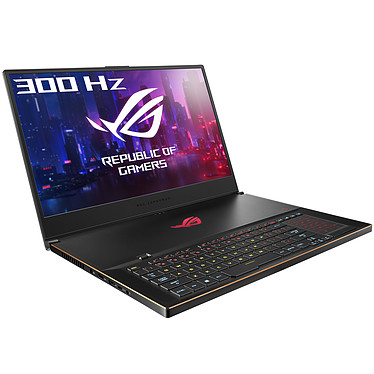 "ASUS ROG Zephyrus S GX735GXR-G119R Intel Core i7-9750H 32 Go SSD 1 To 17.3"" LED Full HD 300 Hz G-SYNC NVIDIA GeForce RTX 2080 8 Go Wi-Fi AC/Bluetooth Windows 10 Professionnel 64 bits"