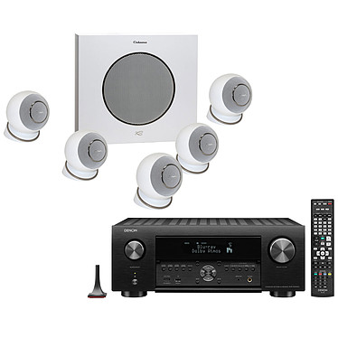 Denon AVR-X4500H Noir + Cabasse Eole 4 Blanc Ampli-tuner Home Cinema 3D Ready 9.2 - Dolby Atmos / DTS:X - IMAX Enhanced - Auro 3D - 8x HDMI 4K Ultra HD, HDCP 2.2 - HDR - Wi-Fi/Bluetooth - AirPlay 2 - Multiroom - Amazon Alexa + Ensemble 5.1