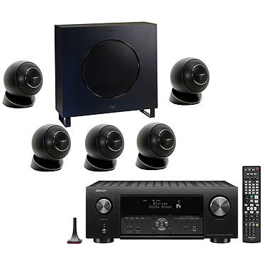 Denon AVR-X4500H Noir + Cabasse Eole 4 Noir Ampli-tuner Home Cinema 3D Ready 9.2 - Dolby Atmos / DTS:X - IMAX Enhanced - Auro 3D - 8x HDMI 4K Ultra HD, HDCP 2.2 - HDR - Wi-Fi/Bluetooth - AirPlay 2 - Multiroom - Amazon Alexa + Ensemble 5.1