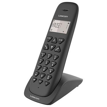 Logicom Vega 150 Noir Téléphone DECT sans fi - fonction mains libres - autonomie 7h en appel - 10 sonneries - mémoire 20 numéros