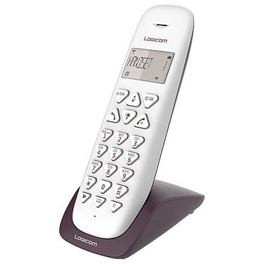 Logicom Vega 150 Aubergine Téléphone DECT sans fi - fonction mains libres - autonomie 7h en appel - 10 sonneries - mémoire 20 numéros