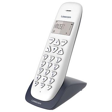 Logicom Vega 150 Ardoise Téléphone DECT sans fi - fonction mains libres - autonomie 7h en appel - 10 sonneries - mémoire 20 numéros