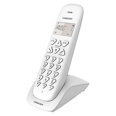 Logicom Vega 155T Blanc Téléphone DECT sans fi - répondeur - fonction mains libres - autonomie 7h en appel - 10 sonneries - mémoire 20 numéros