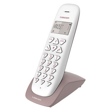 Logicom Vega 155T Taupe Téléphone DECT sans fi - répondeur - fonction mains libres - autonomie 7h en appel - 10 sonneries - mémoire 20 numéros