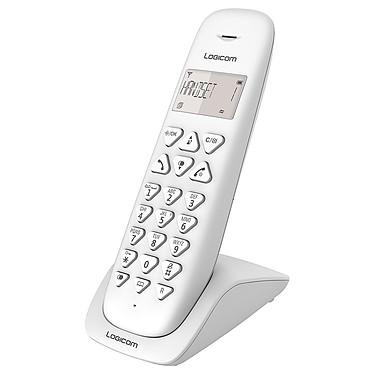 Logicom Vega 100 Blanc Téléphone DECT sans fi - autonomie 7h en appel - 10 sonneries - mémoire 20 numéros