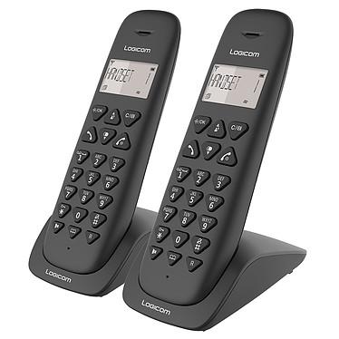Logicom Vega 250 Noir Téléphone DECT sans fi - fonction mains libres - autonomie 7h en appel - 10 sonneries - mémoire 20 numéros - 1 combiné supplémentaire
