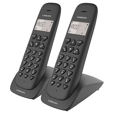 Logicom Vega 255T Noir Téléphone DECT sans fi - répondeur - fonction mains libres - autonomie 7h en appel - 10 sonneries - mémoire 20 numéros - 1 combiné supplémentaire
