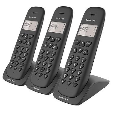 Logicom Vega 350 Noir Téléphone DECT sans fi - fonction mains libres - autonomie 7h en appel - 10 sonneries - mémoire 20 numéros - 2 combinés supplémentaires