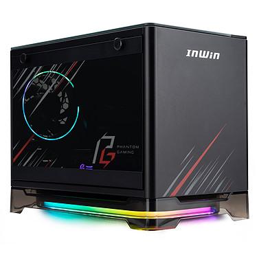In Win A1 Plus Phantom Gaming Edition Caja de Mini Torre Rosa con fuente de alimentación 650W 80PLUS Gold, con estación de carga por inducción direccionable RGB y retroiluminación