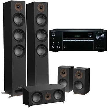 Onkyo TX-NR575E Noir + Jamo S 809 HCS Noir Ampli-tuner Home Cinéma 7.2, Multiroom, Wi-Fi Dual Band, Bluetooth, AirPlay, Chromecast, DTS Play-Fi, HDMI 4K, Hi-Res Audio, DTS:X et Dolby Atmos + Pack d'enceintes 5.0 compatible Dolby Atmos