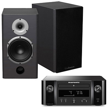 Marantz Melody X M-CR612 Noir + Cabasse Antigua MT22 Noir Satin Mini-système stéréo réseau 2 x 60 Watts - Lecteur CD/CD-R/CD-RW - Tuner FM/DAB+ - Hi-Res Audio - Wi-Fi/Bluetooth - AirPlay 2 - Multiroom + Enceinte bibliothèque 75W (par paire)