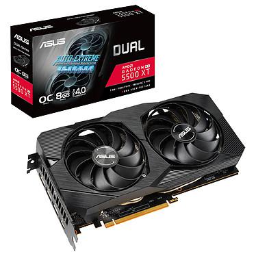 ASUS Radeon RX 5500 XT DUAL-RX5500XT-O8G-EVO 8 Go GDDR6 - HDMI/Tri DisplayPort - PCI Express (AMD Radeon RX 5500 XT)