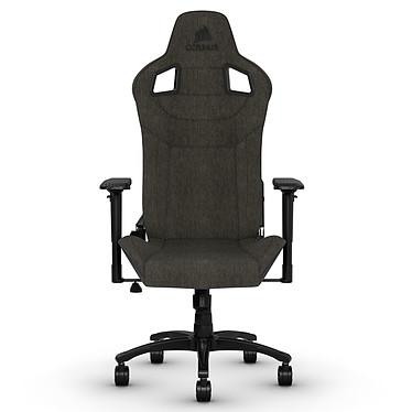 Corsair T3 Rush (charcoal) Siège gaming - revêtement en tissu respirant de haute qualité - accoudoirs 4D - dossier inclinable à 180° - poids limité à 120 kg