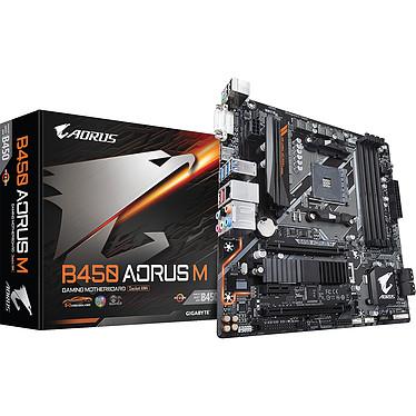 Gigabyte B450 AORUS M Carte mère micro-ATX Socket AM4 AMD B450 - 4x DDR4 - SATA 6Gb/s + M.2 - USB 3.1 - 1x PCI-Express 3.0 16x