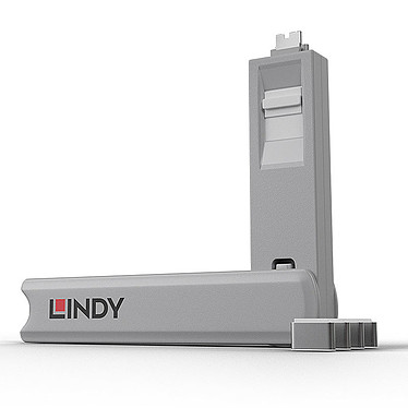 Lindy Kit de blocage pour ports USB-C Lot de 4 bloqueurs de ports USB-C et 1 clé