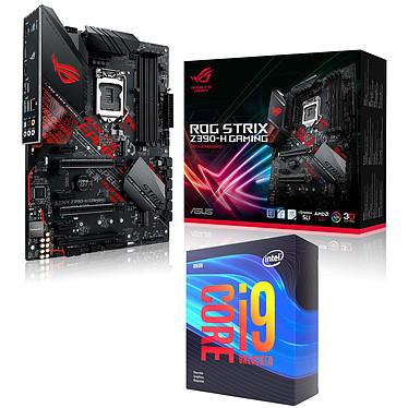 Kit Upgrade PC Core i9KF ROG STRIX Z390-H GAMING Carte mère Socket 1151 Intel Z390 Express + CPU Intel Core i9-9900KF (3.6 GHz / 5 GHz)