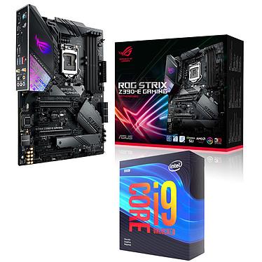 Kit Upgrade PC Core i9KF ASUS ROG STRIX Z390-E GAMING Carte mère Socket 1151 Intel Z390 Express + CPU Intel Core i9-9900KF (3.6 GHz / 5 GHz)