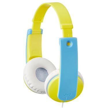 JVC HA-KD7 Bleu/Jaune Casque supra-auriculaire pour enfant avec limiteur de volume