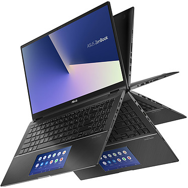"ASUS Zenbook Flip 15 UX563FD-A1015R avec ScreenPad Intel Core i7-10510U 16 Go SSD 1 To 15.6"" LED Tactile Ultra HD NVIDIA GeForce GTX 1050 4 Go Wi-Fi AX/Bluetooth Webcam Windows 10 Professionnel 64 bits"