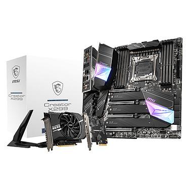 MSI CREATOR X299 Carte mère E-ATX Socket 2066 Intel X299 Express - 8 x DDR4 - SATA 6Gb/s - M.2- USB 3.2 2x2 - 4 x PCI-Express 3.0 16x - LAN 10 GbE