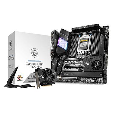 MSI CREATOR TRX40 Carte mère E-ATX Socket sTRx4 AMD TRX40 - 8x DDR4 - SATA 6Gb/s + M.2 - USB 3.2 2x2 - Wi-Fi 6 AX/Bluetooth 5.0 - LAN 10 GbE - 4x PCI-Express 4.0 16x