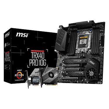 MSI TRX40 PRO 10G Carte mère ATX Socket sTRx4 AMD TRX40 - 8x DDR4 - SATA 6Gb/s + M.2 - USB 3.2 2x2 - LAN 10 GbE - 4x PCI-Express 4.0 16x