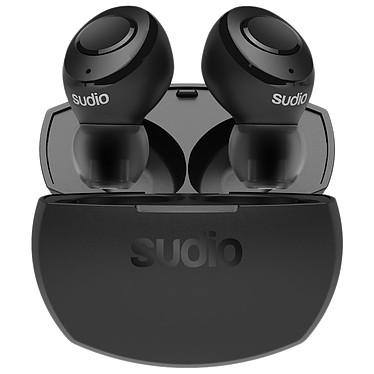 Sudio Tolv R Noir Écouteurs intra-auriculaires True Wireless - Bluetooth 5.0 - Commandes/Micro - Autonomie 22 heures - Boîtier de charge/transport