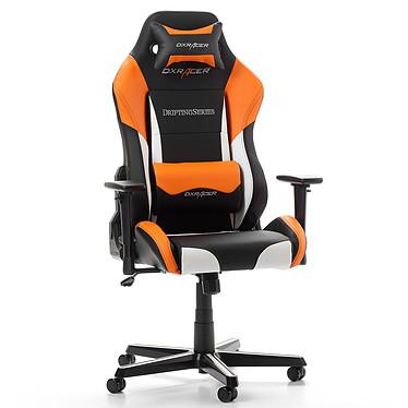 DXRacer Drifting D61 (orange) Siège en similicuir avec dossier inclinable à 135° et accoudoirs 3D pour gamer (jusqu'à 100 kg)