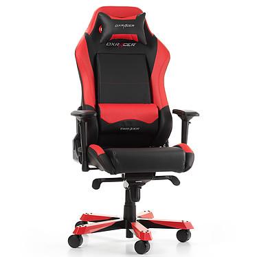 DXRacer Iron I11 (rouge) Siège en similicuir avec dossier inclinable à 135° et accoudoirs 4D pour gamer (jusqu'à 130 kg)