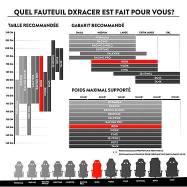 DXRacer Iron I11 (rouge) pas cher