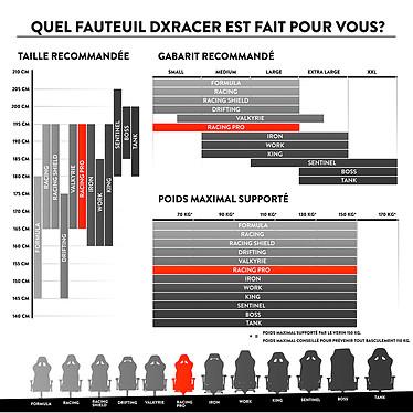DXRacer Racing Pro R131 (rouge) pas cher