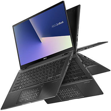 "ASUS Zenbook Flip 14 UX463FA-AI013R avec NumberPad Intel Core i5-10210U 8 Go SSD 512 Go 14"" LED Full HD Tactile Wi-Fi AX/Bluetooth Webcam Windows 10 Professionnel 64 bits"